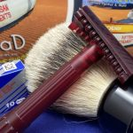 Phoenix Artisan Accoutrements: Crimson Ghost Open Comb Slant Razor